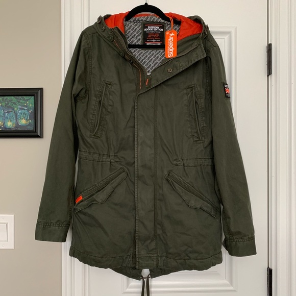 new product 85f47 44771 SUPERDRY Rookie Military Parka Jacket L - Green NWT